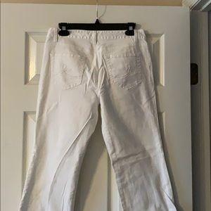 Size 8 Loft white jeans